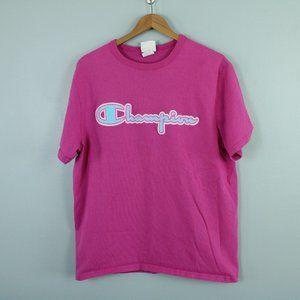 pink champion heavy cotton logo t-shirt (85)